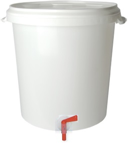 BREWFERM 30 l Basic Bottling Bucket With Airlock, Tap And Bottle Filling Stick