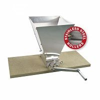 Brewferm Adjustable Roller Maltmill With Stainless Steel Rollers Including Brewferm Bucket