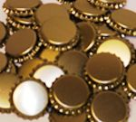 Crown corks 29mm GOLD 100 pcs Extra Seal (With Plastic Undercap)