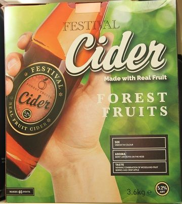 Festival Forest Fruits Cider 3.6 Kg 40 Pint Kit