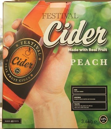 Festival Peach 3.6 Kg 40 Pint Cider Kit