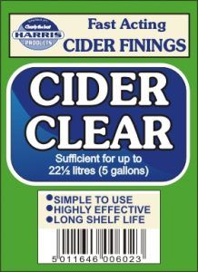 Harris Cider Clear Finings