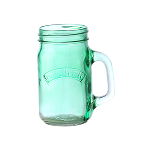 Kilner Colour Handled Jar Green 0.4 Litre