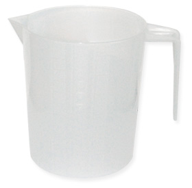 Measuring Jug Graduated, White Plastic 1 Litre